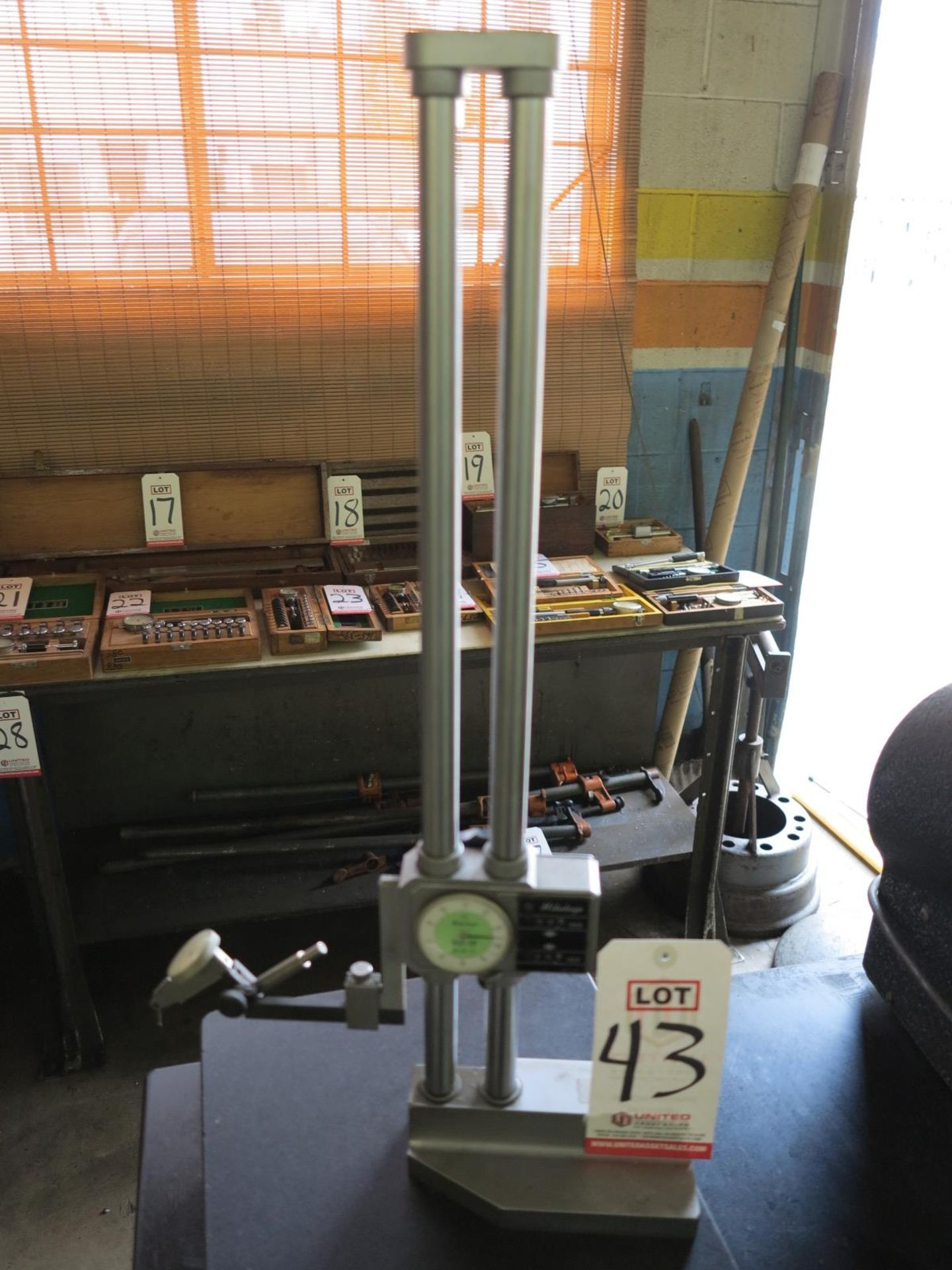 "Lot 43 - MITUTOYO 18"" HEIGHT GAGE, NO. 192-112"
