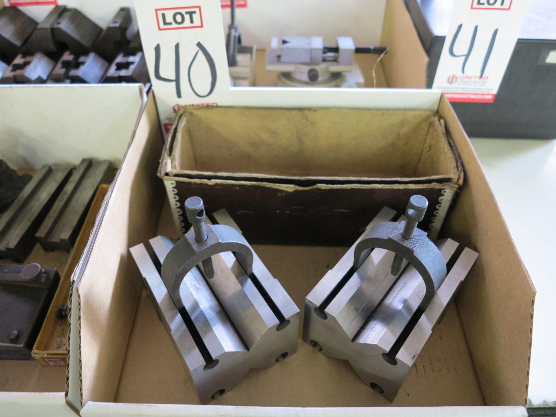 Lot 40 - LOT - V-BLOCK SET, 90 MM X 70 MM X 125 MM