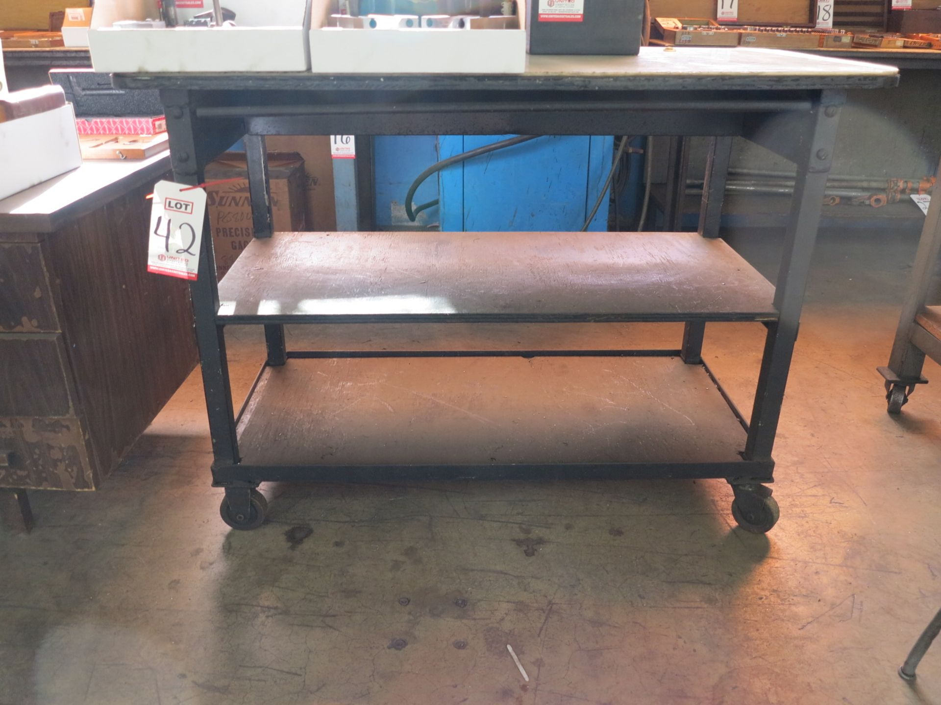 "Lot 42 - SHOP CART, 22"" X 48"", CONTENTS NOT INCLUDED"