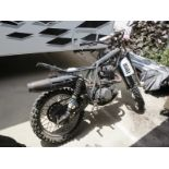 YAMAHA MOTORCYCLE FRAME, W/ ENGINE AND WHEELS