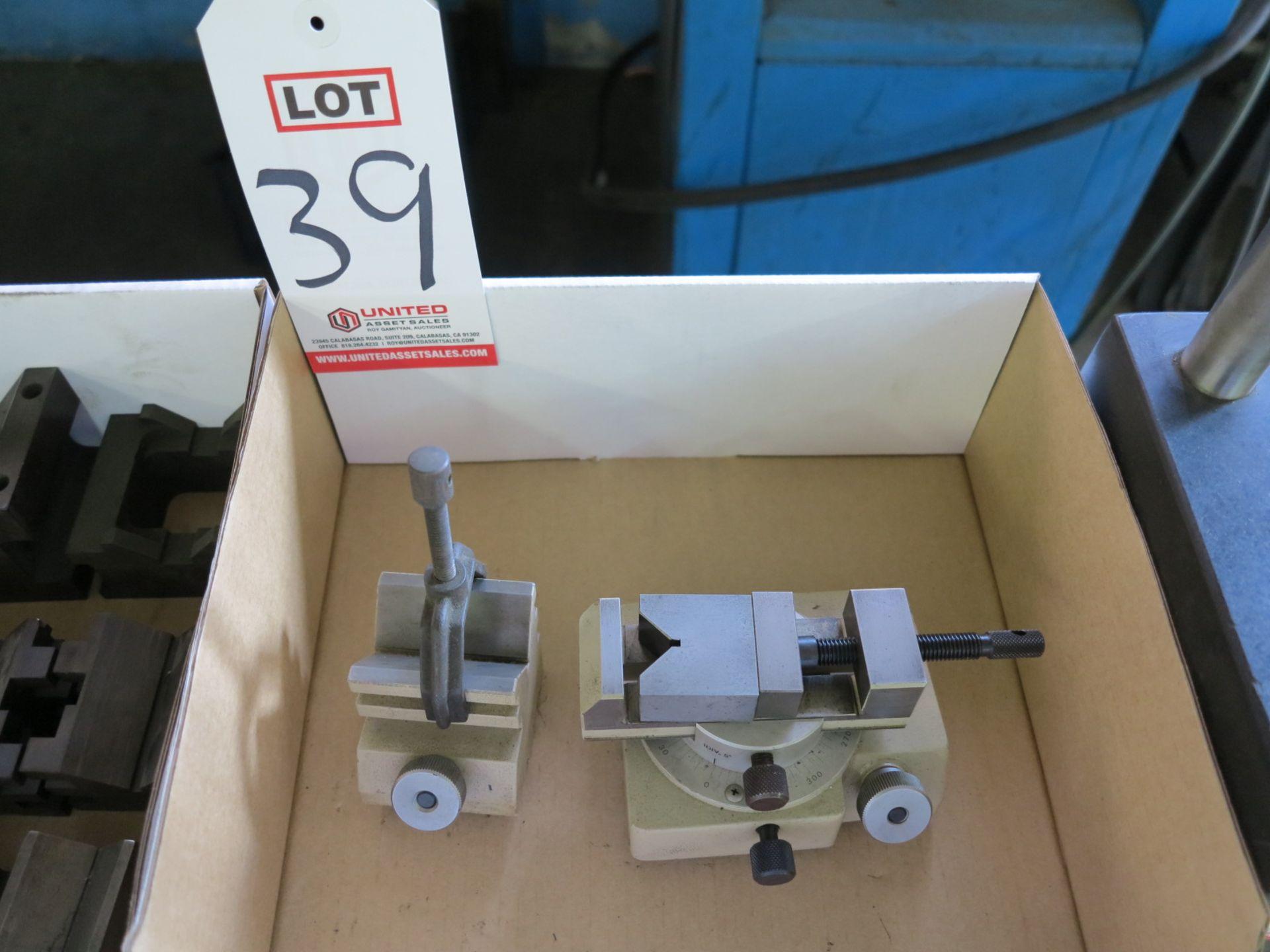 Lot 39 - LOT - ROTARY CLAMP, V-BLOCK SET FOR MINI LATHE