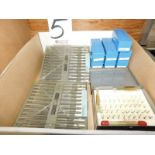 LOT - PIN GAGE SETS AND THREAD MEASURING WIRES