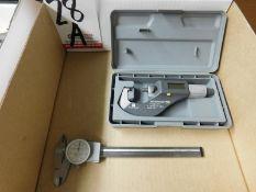 """LOT - (1) BROWN & SHARPE MICROMASTER 2000 0-1.2"""" DIGITAL MIC AND (1) BROWN & SHARPE 6"""" DIAL CALIPER"""