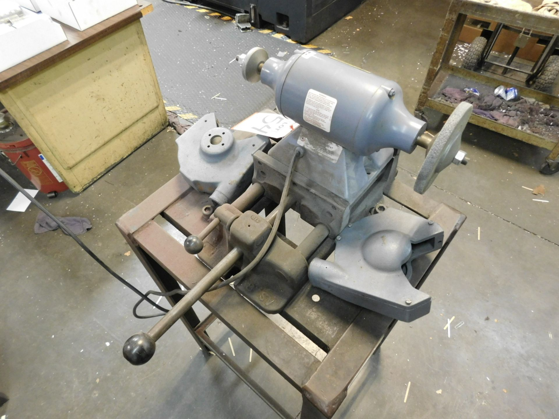 """Lot 54 - LOT - BALDOR .33 HP 6"""" DOUBLE END BUFFER, CAT. NO. 111, W/ VISE STAND, BOTH GUARDS ARE INCLUDED"""