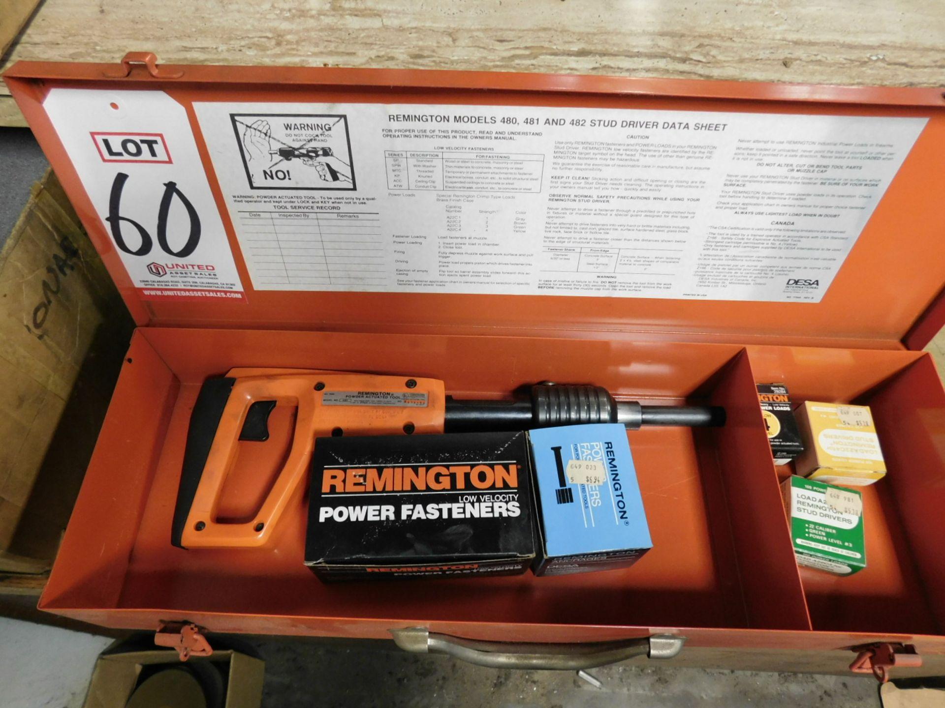 Lot 60 - REMINGTON MODEL 480 POWDER ACTUATED STUD DRIVER