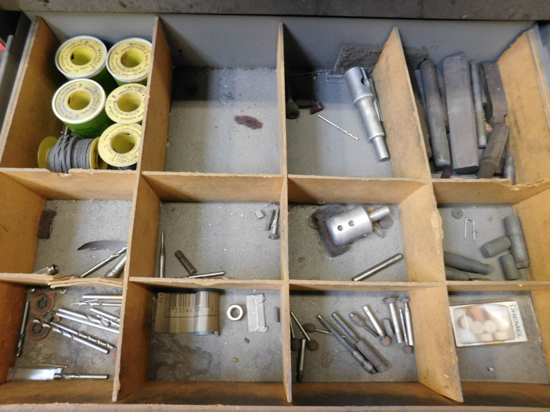 KENNEDY 5-DRAWER TOOL STORAGE CABINET, W/ CONTENTS OF MISC ABRASIVES, ETC. - Image 3 of 4