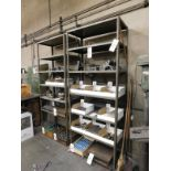 """LOT - (2) STEEL SHELF UNITS, 3' X 18"""" X 87"""", CONTENTS NOT INCLUDED"""