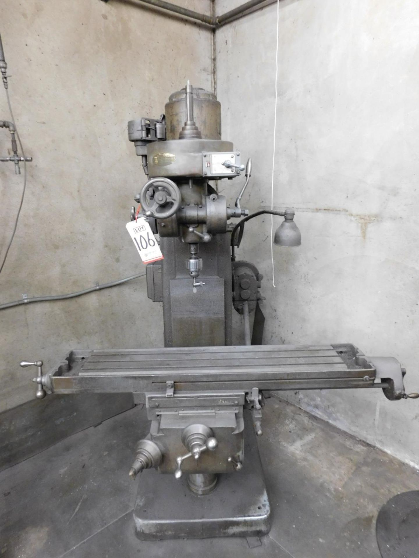 "INDEX MACHINE & TOOL CO. VERTICAL MILL, 9"" X 46"" TABLE, S/N 55-5453"