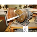 "DUGAS MACHINE WORKS/CUSHMAN CHUCKS 8-1/2"" HORIZONTAL VERTICAL ROTARY TABLE W/ 3-JAW SELF-CENTERING"