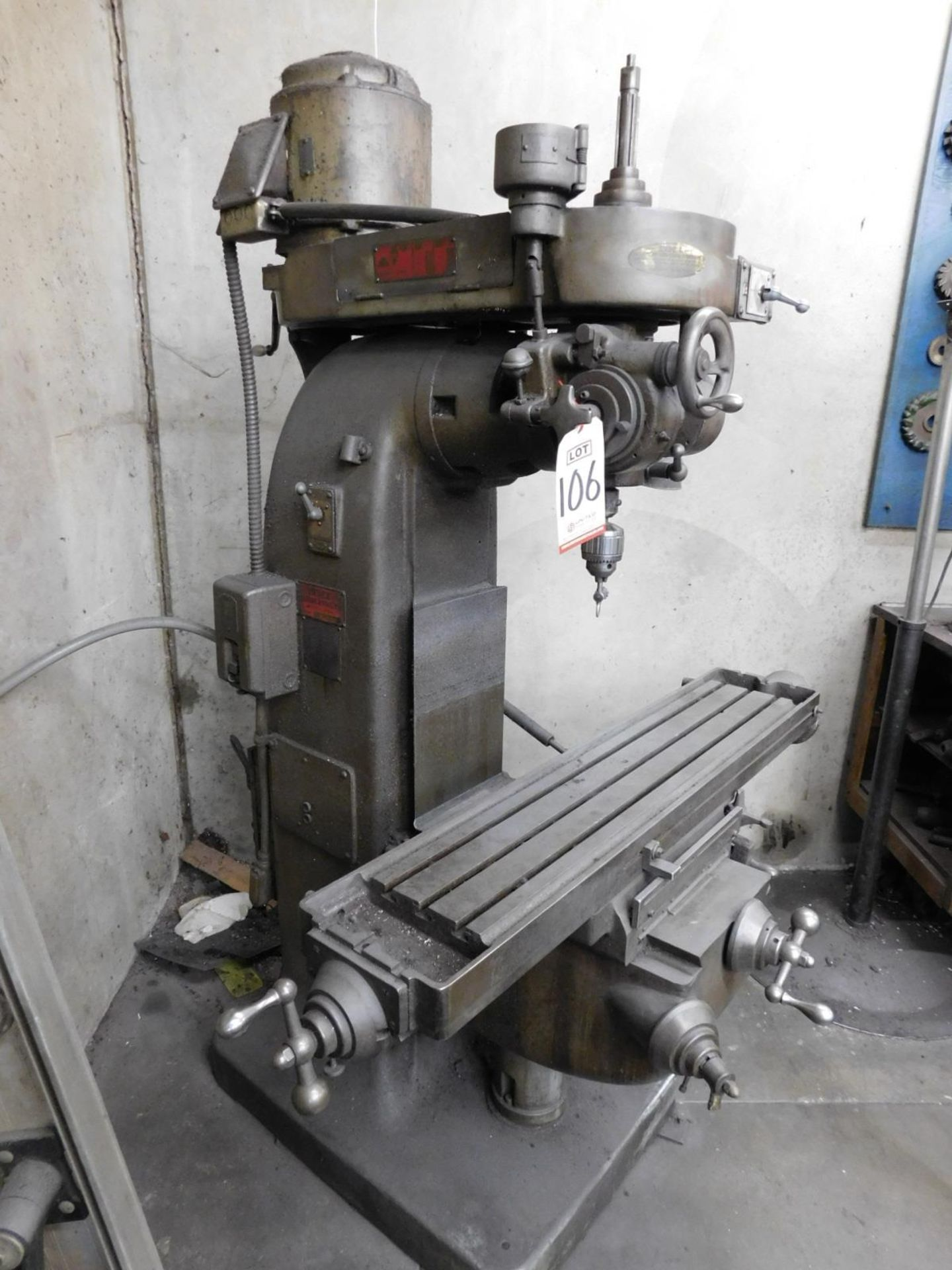 "INDEX MACHINE & TOOL CO. VERTICAL MILL, 9"" X 46"" TABLE, S/N 55-5453 - Image 2 of 5"