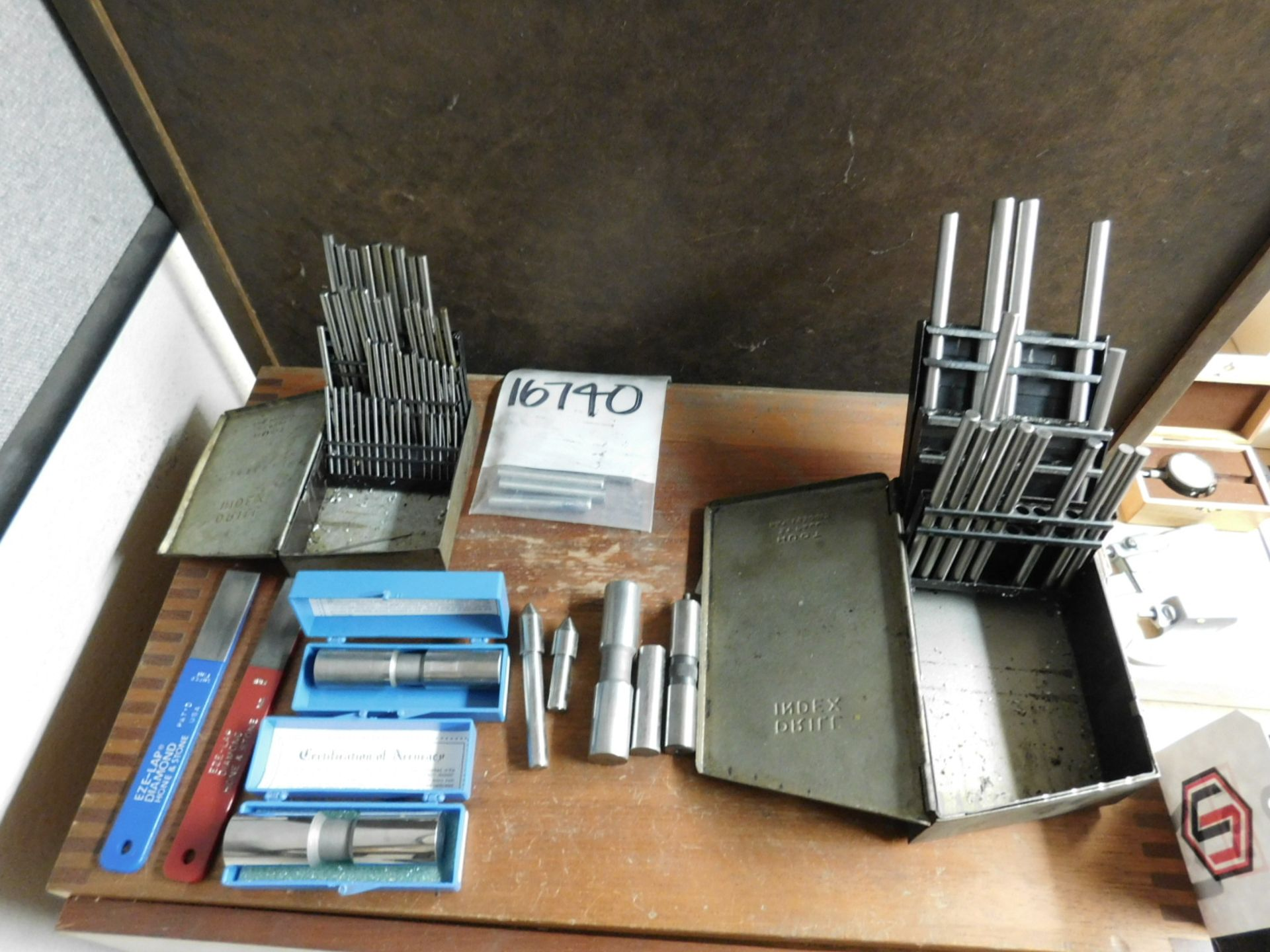 Lot 12 - LOT - MEYER PIN GAGE SETS: M-1 THROUGH M-4 MINUS, CONTAINED IN A 4-DRAWER CABINET, INCLUDES GAGES ON