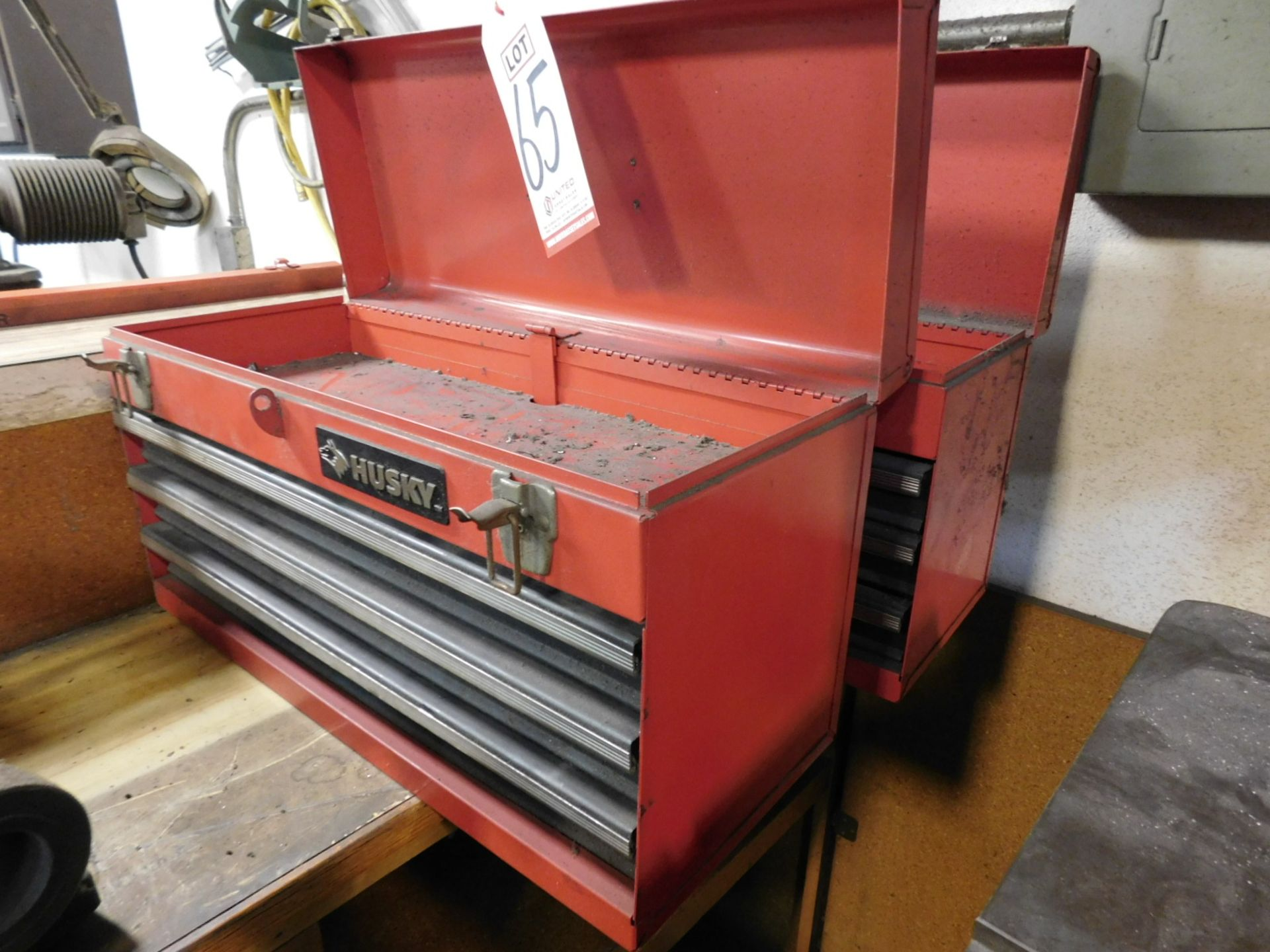 LOT - (2) EMPTY HUSKY 3-DRAWER TOOL BOXES