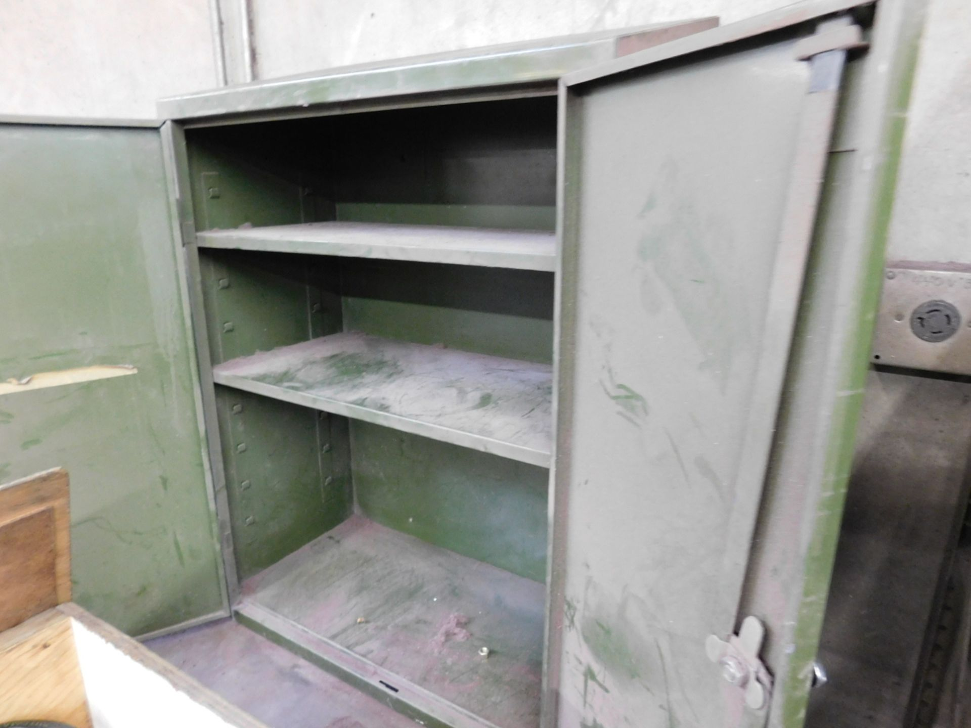 2-DOOR STEEL WALL CABINET, W/ (2) ADJUSTABLE SHELVES, EMPTY - Image 2 of 2