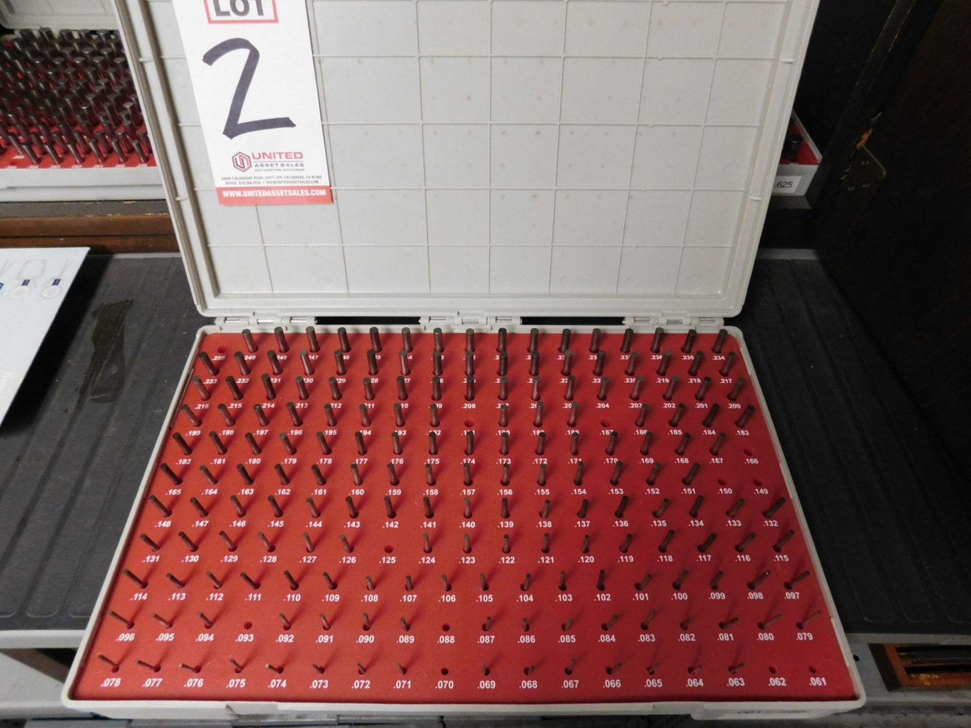 """Lot 2 - VERMONT GAGE PIN GAGE SET, .061"""" - .250"""""""