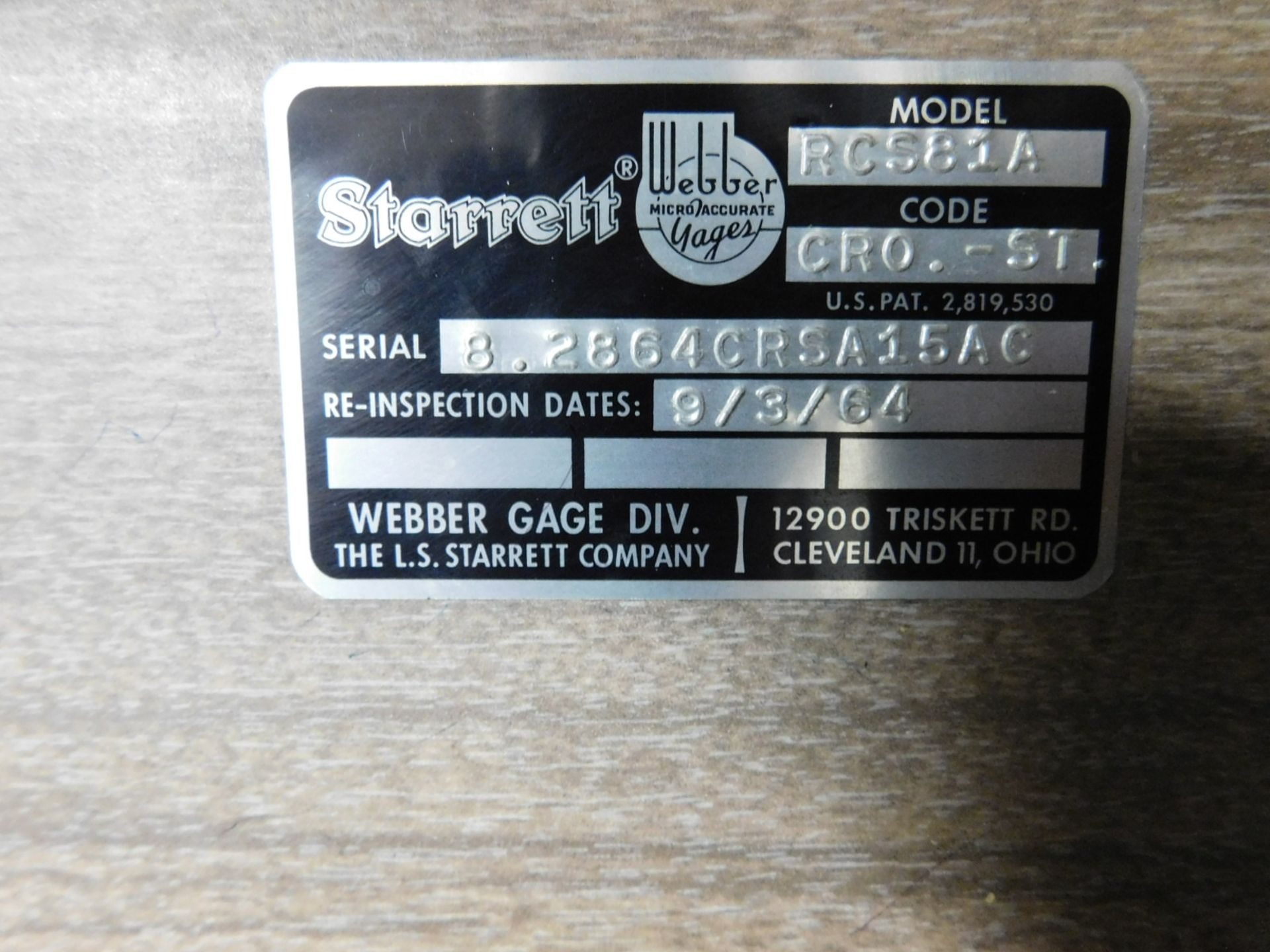 Lot 6 - STARRETT-WEBBER GAGE BLOCK SET