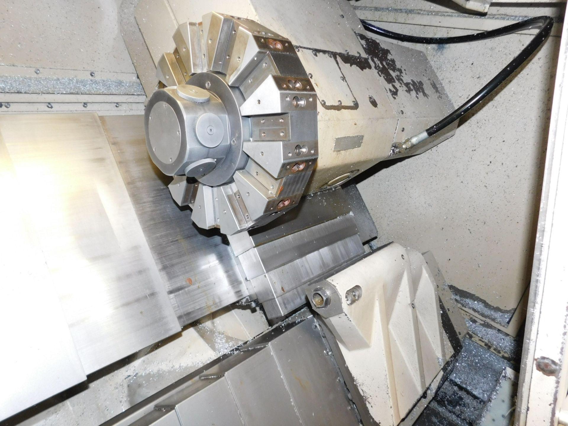 HARDINGE CONQUEST T-42 CNC LATHE, MODEL SG42, FANUC 18-T CNC CONTROL, 12-STATION TURRET, - Image 8 of 27