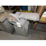 "RUTLAND 6"" X 9"" BELT AND DISC SANDER, 1/2 HP, S/N 0878083, 115V"