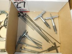 LOT - ASSORTED DEPTH MICS AND BORE GAGES