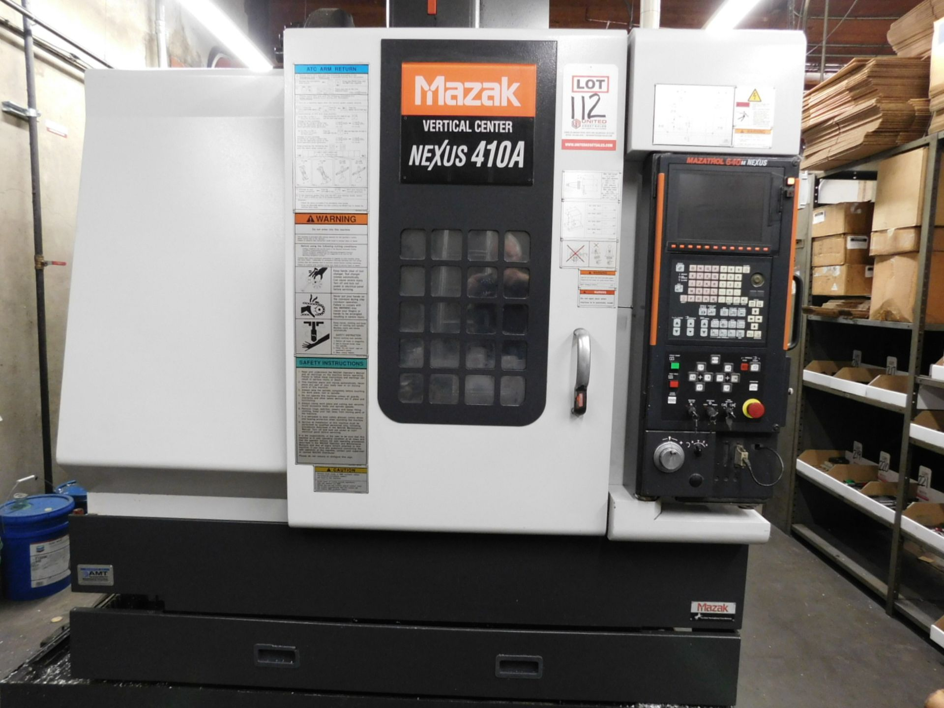 2005 MAZAK NEXUS VCN 410A CNC VERTICAL MACHINING CENTER, MAZATROL FUSION 640M NEXUS CNC CONTROL, XYZ - Image 15 of 15
