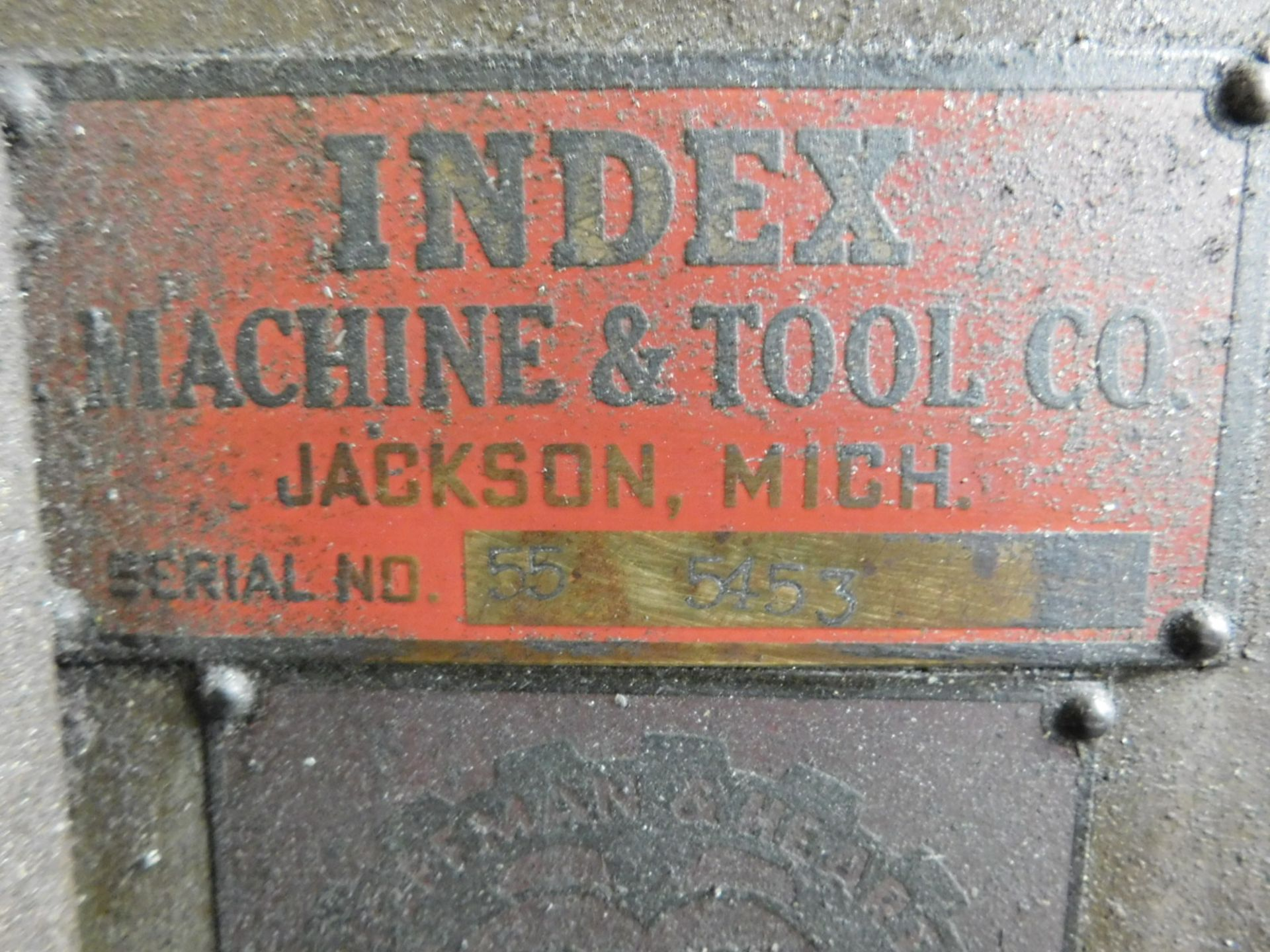 "INDEX MACHINE & TOOL CO. VERTICAL MILL, 9"" X 46"" TABLE, S/N 55-5453 - Image 4 of 5"