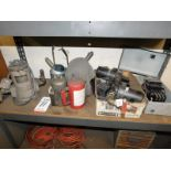 LOT - FUJI COOLANT PUMP, OIL CANS AND ELECTRICAL BREAKERS
