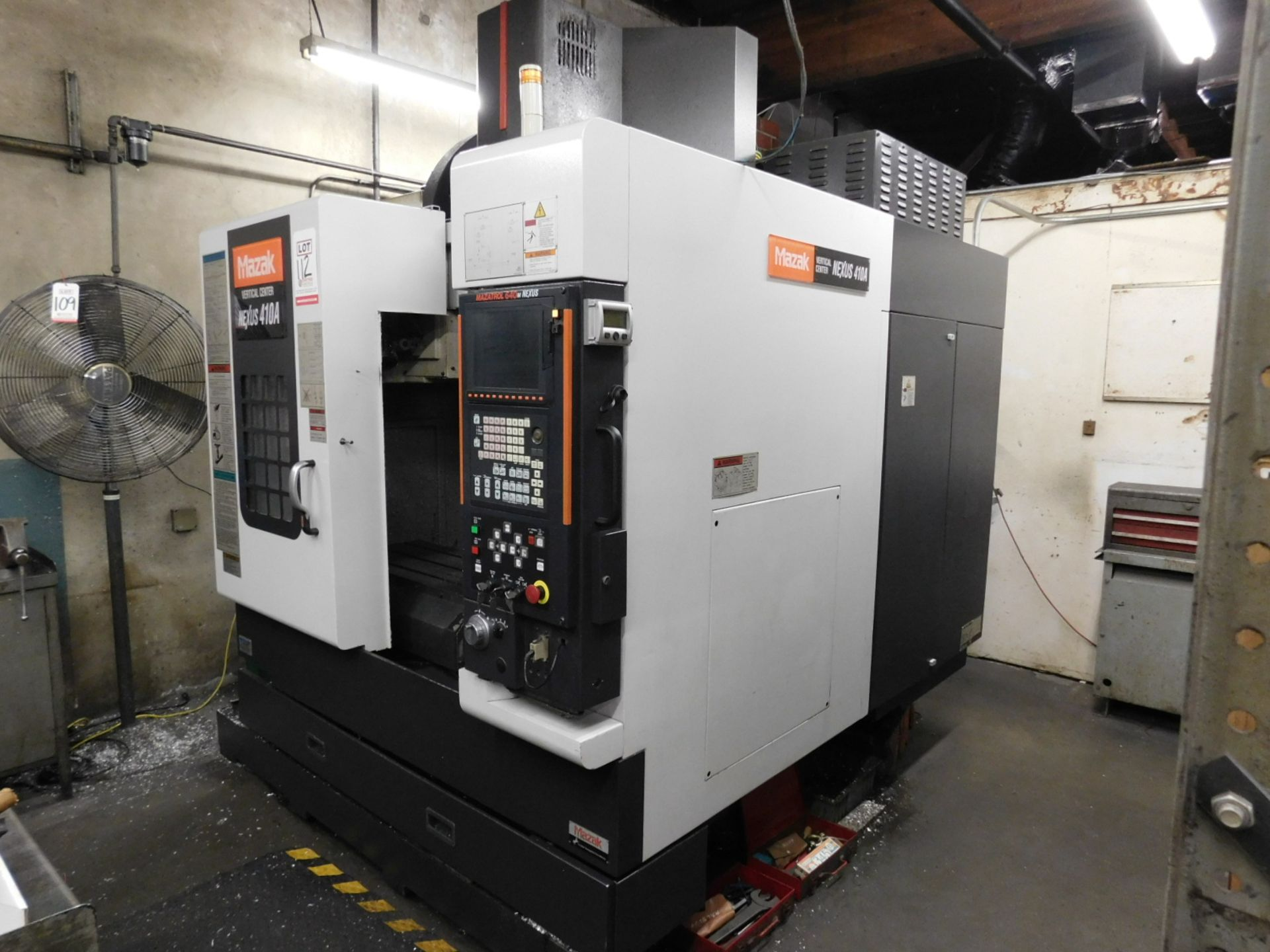 2005 MAZAK NEXUS VCN 410A CNC VERTICAL MACHINING CENTER, MAZATROL FUSION 640M NEXUS CNC CONTROL, XYZ - Image 5 of 15