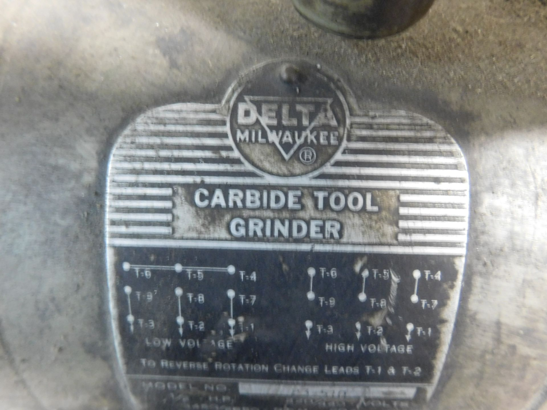 """Lot 57 - DELTA/MILWAUKEE 1/2 HP 6"""" DOUBLE END CARBIDE TOOL GRINDER, ON PEDESTAL"""