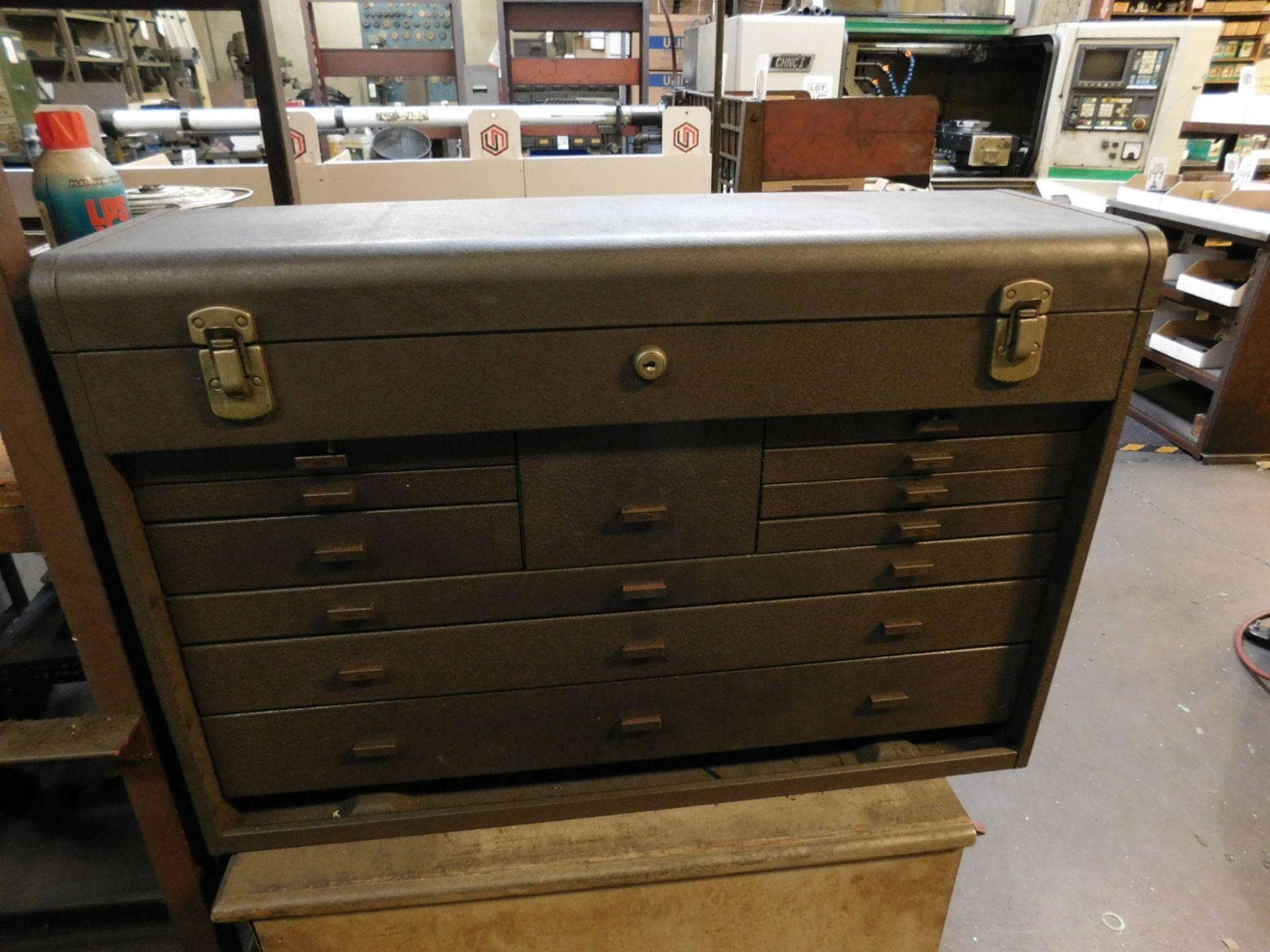 KENNEDY TOOL BOX, STYLE NO. 52611-627438, EMPTY, NEEDS NEW LOCK