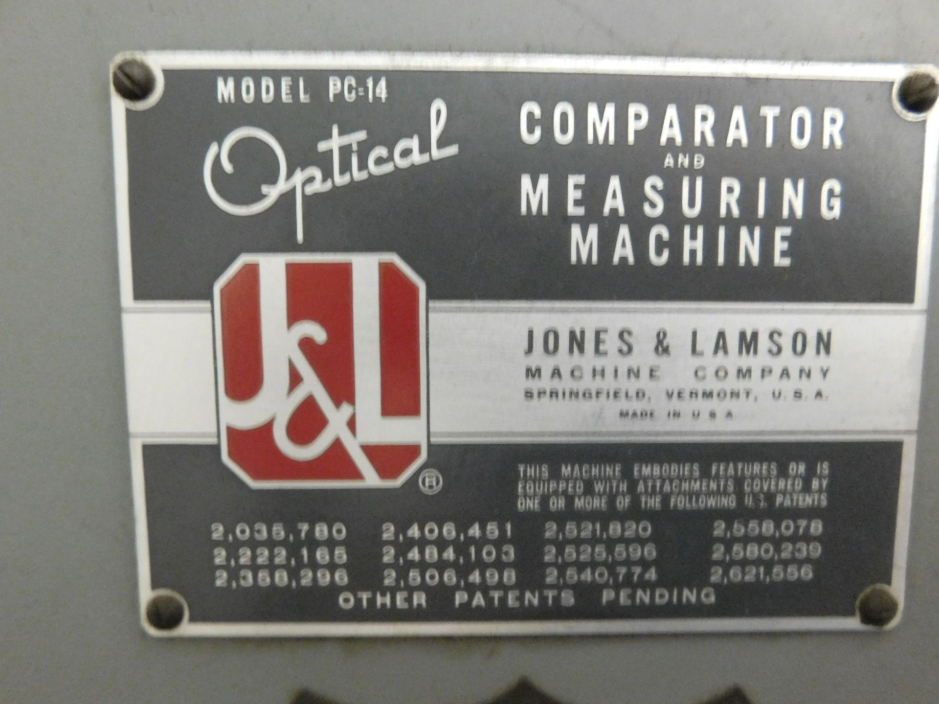 "Lot 31 - JONES & LAMSON 14"" OPTICAL COMPARATOR AND MEASURING MACHINE, MODEL PC-14"