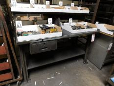 """STEEL WORKBENCH, 5' X 28"""", CONTENTS NOT INCLUDED"""