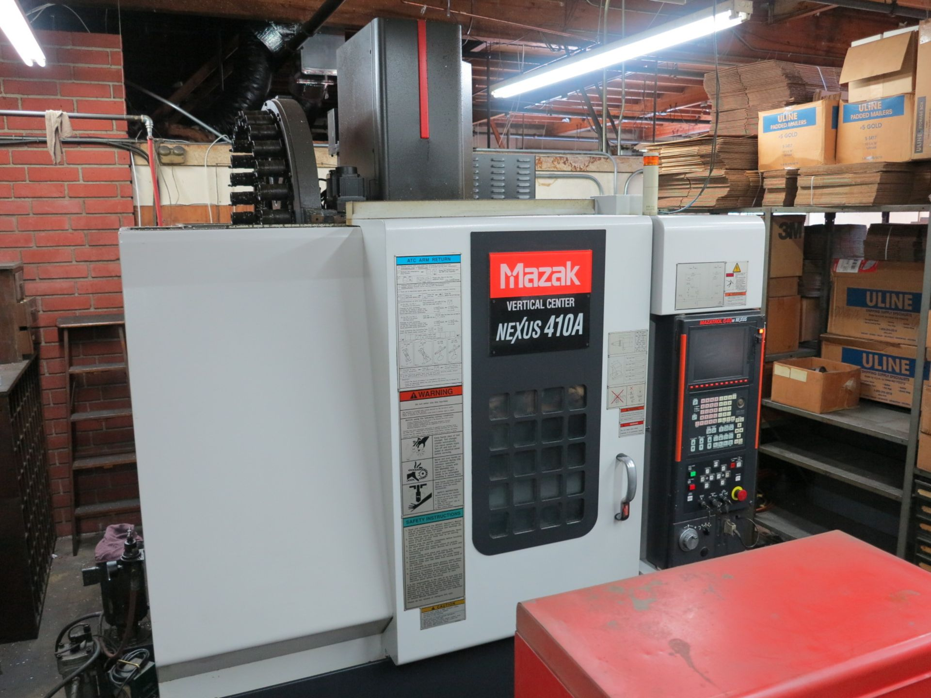 Lot 0A - 2005 MAZAK VCN-410A CNC VERTICAL MACHINING CENTER, MAZATROL 640 T NEXUS CONTROL