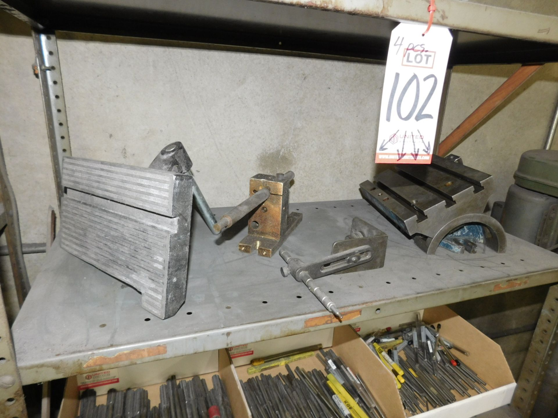 """LOT - (4) FIXTURES INCLUDING A 7"""" X 10"""" TILTING T-SLOT TABLE - Image 2 of 2"""
