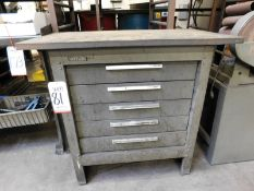 KENNEDY 5-DRAWER TOOL STORAGE CABINET, W/ CONTENTS OF MISC ABRASIVES, ETC.