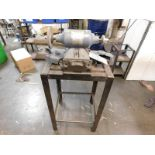 """LOT - BALDOR .33 HP 6"""" DOUBLE END BUFFER, CAT. NO. 111, W/ VISE STAND, BOTH GUARDS ARE INCLUDED"""