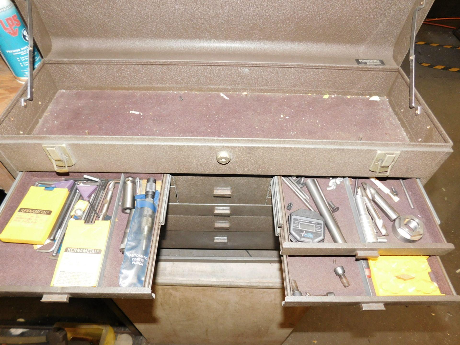 KENNEDY TOOL BOX, STYLE NO. 52611-627438, EMPTY, NEEDS NEW LOCK - Image 4 of 5