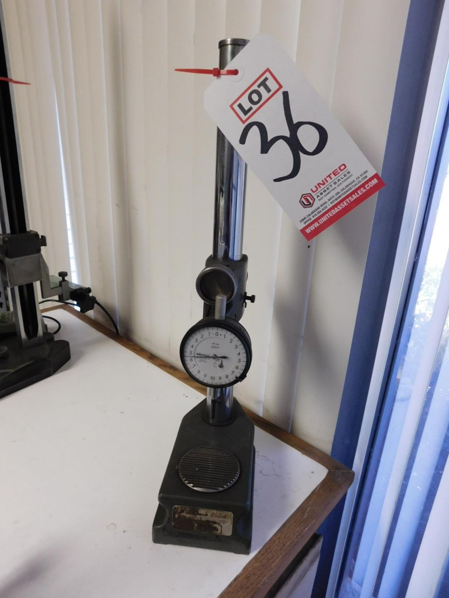 Lot 36 - MITUTOYO INDICATOR CHECK STAND