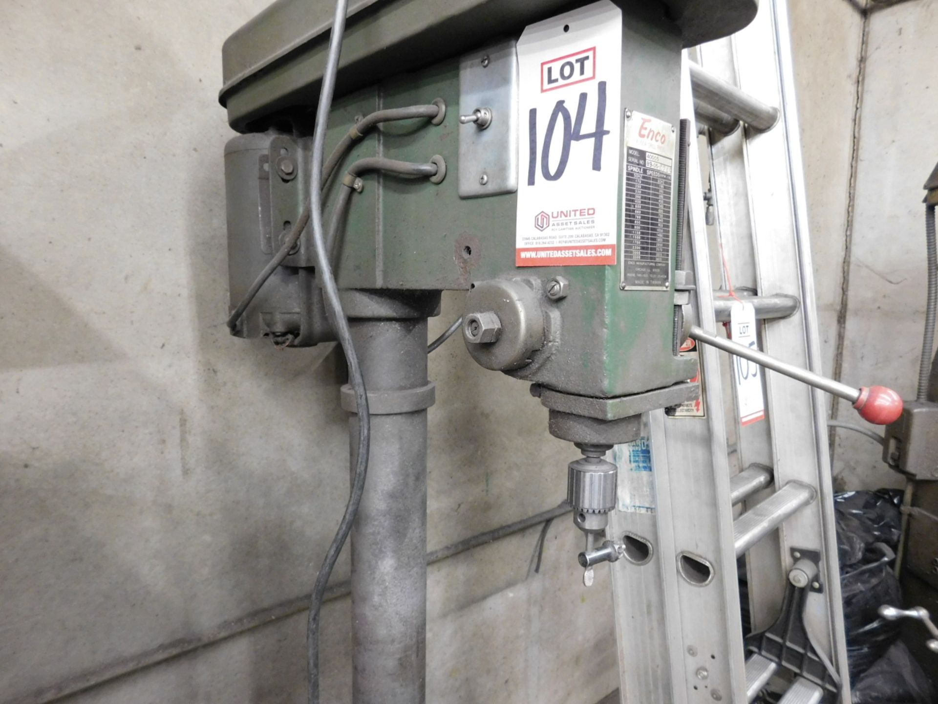 "ENCO 17"" FLOOR DRILL PRESS, MODEL 40005 - Image 2 of 4"