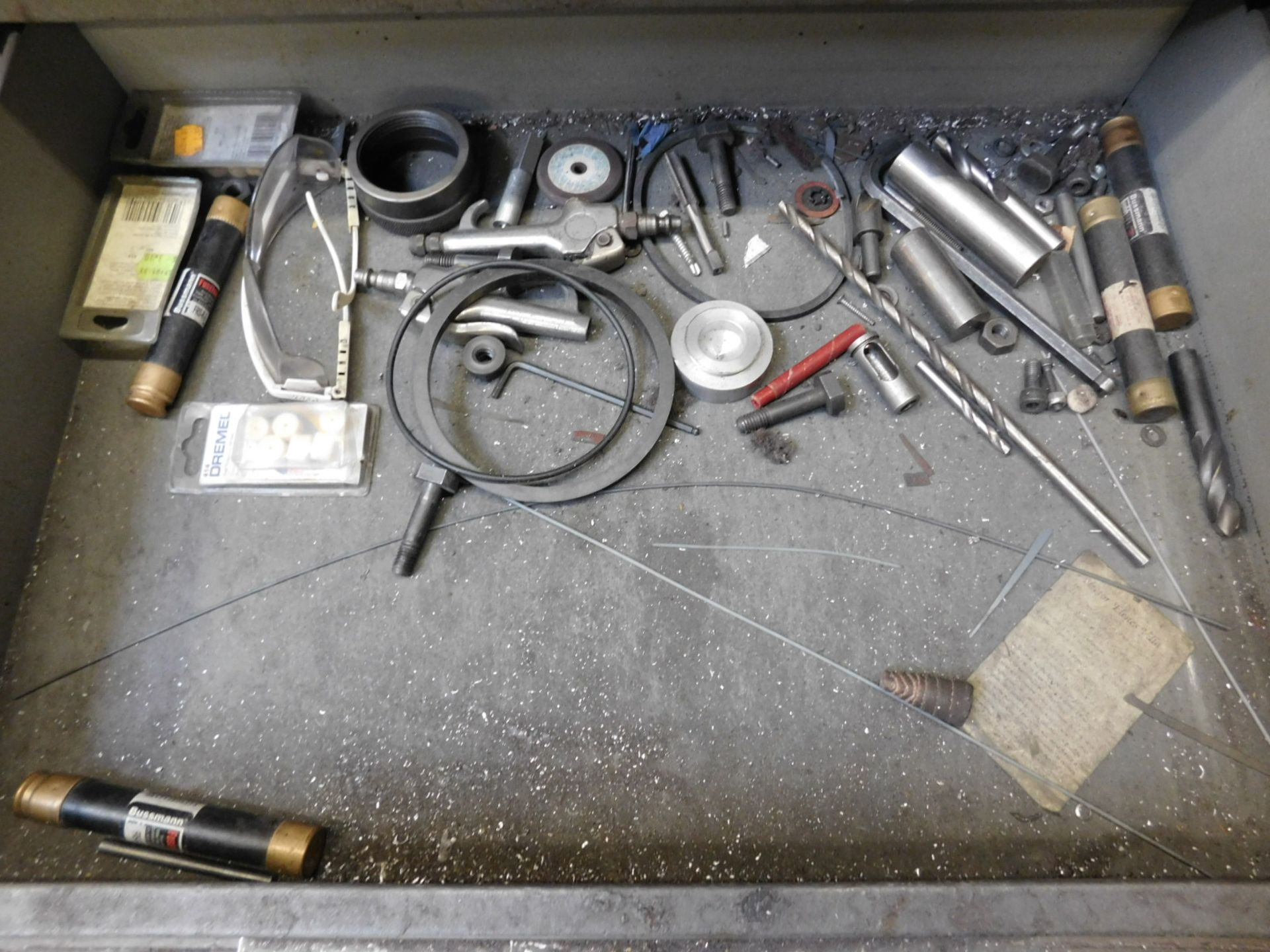 KENNEDY 5-DRAWER TOOL STORAGE CABINET, W/ CONTENTS OF MISC ABRASIVES, ETC. - Image 4 of 4
