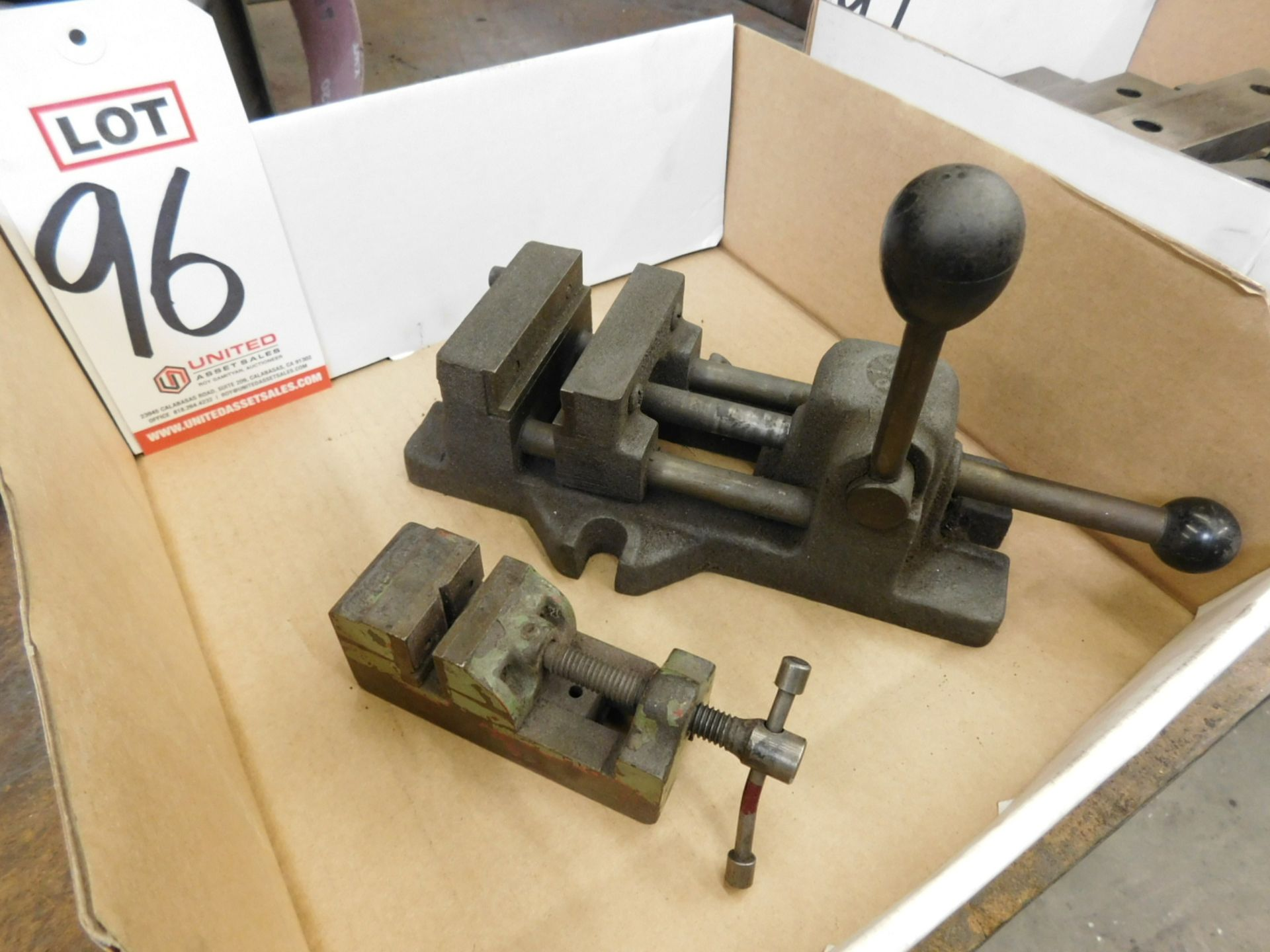"LOT - (1) 3"" MACHINE VISE AND (1) 1-1/2"" PALMGREN VISE"