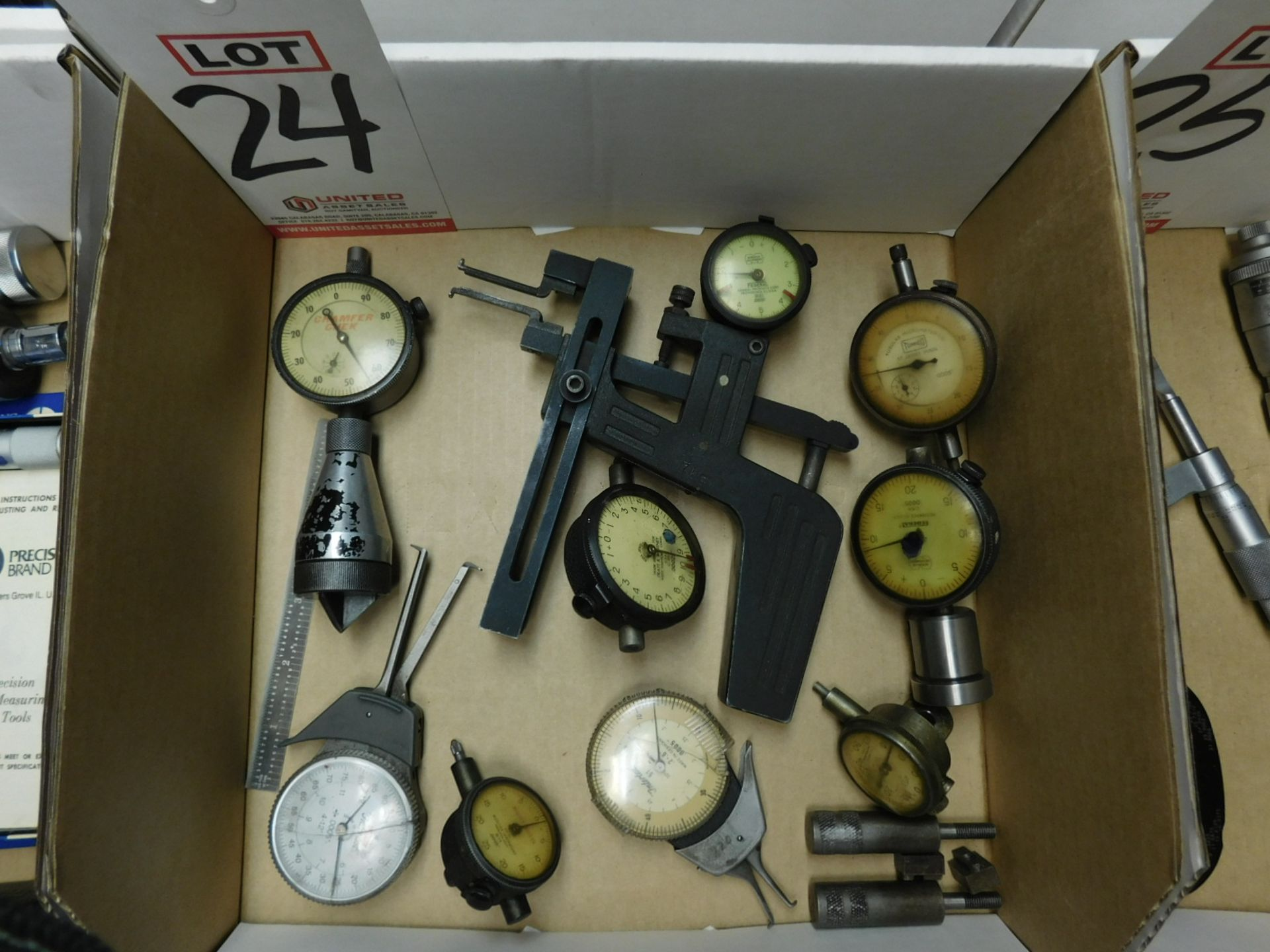 Lot 24 - LOT - (1) MUELLER GROOVE GAGE, PLUS (8) OTHER GAGES