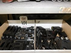 LOT - (2) BOXES OF LARGE HOLD-DOWNS