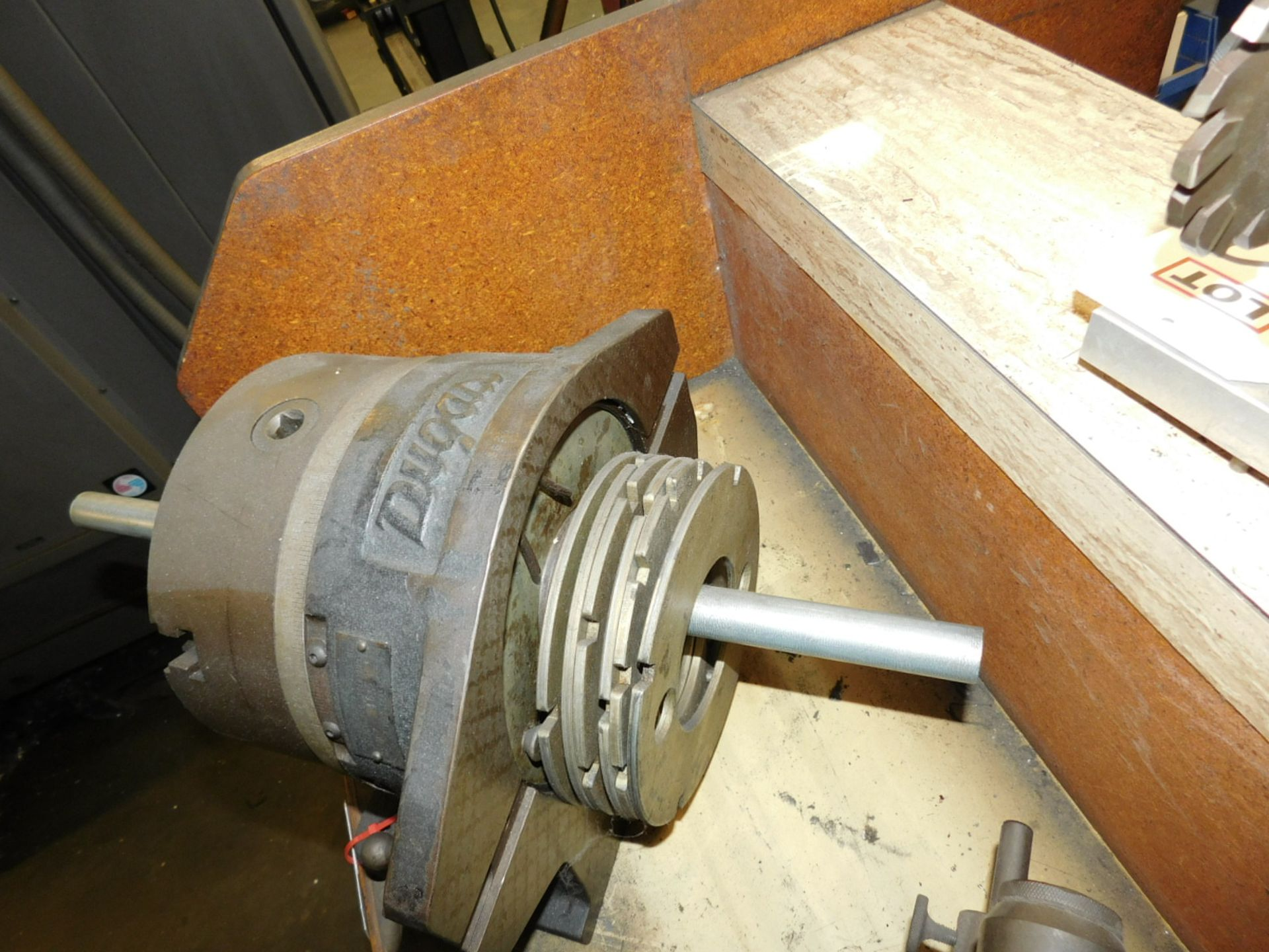 "DUGAS MACHINE WORKS/CUSHMAN CHUCKS 8-1/2"" HORIZONTAL VERTICAL ROTARY TABLE W/ 3-JAW SELF-CENTERING - Image 2 of 2"