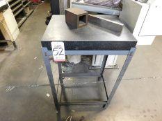 """GRANITE SURFACE PLATE, 24"""" X 18"""" X 3"""", W/ STAND"""