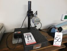 MITUTOYO DIAL INDICATOR ON GRANITE CHECK STAND