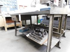 """STEEL WORK BENCH, 5' X 28"""", CONTENTS NOT INCLUDED"""