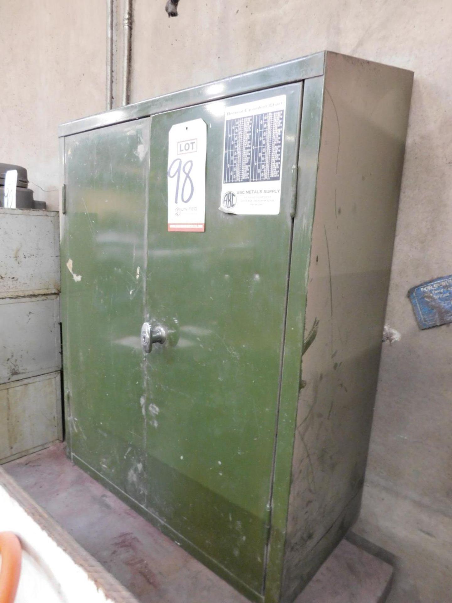 2-DOOR STEEL WALL CABINET, W/ (2) ADJUSTABLE SHELVES, EMPTY