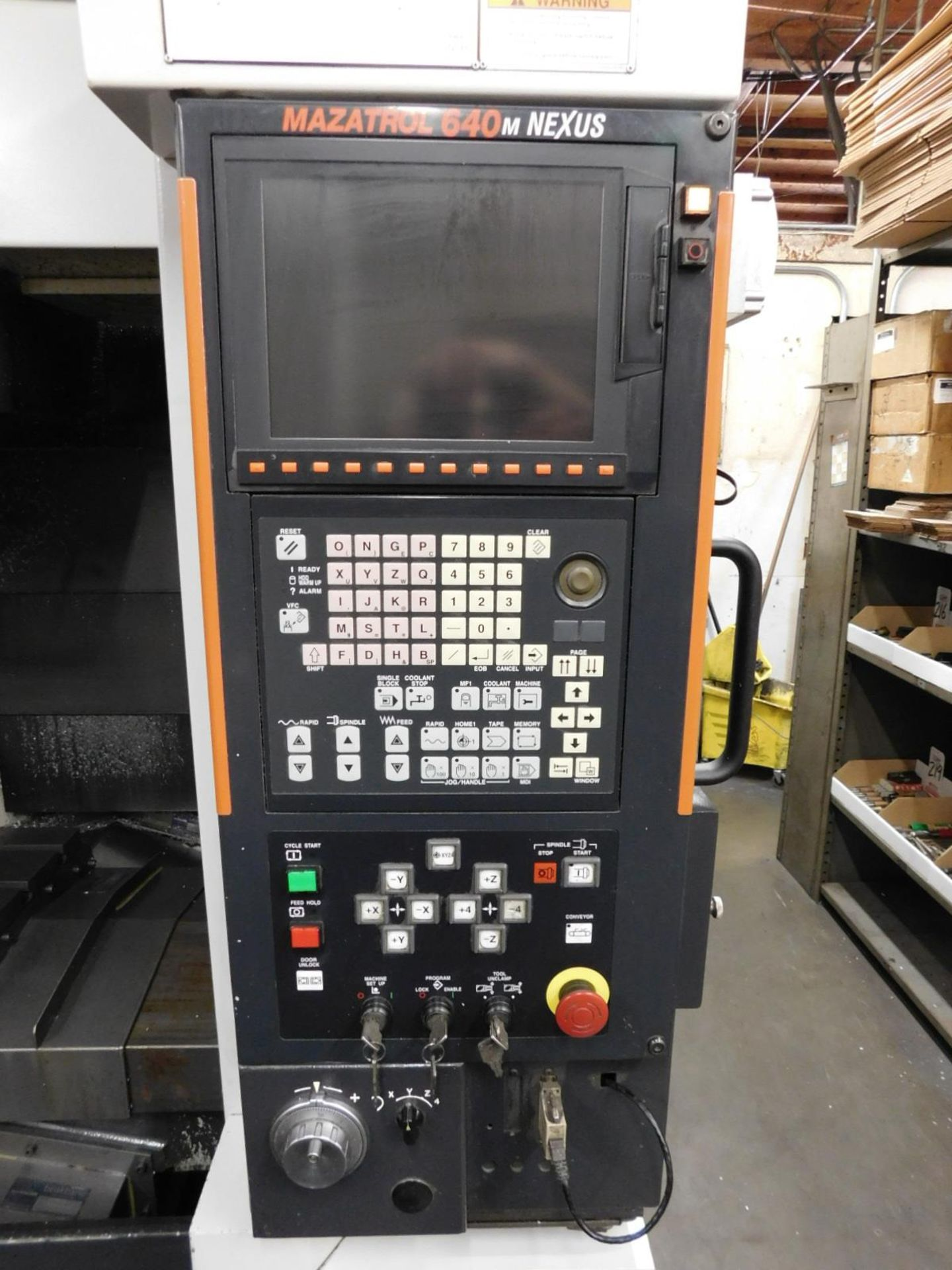 2005 MAZAK NEXUS VCN 410A CNC VERTICAL MACHINING CENTER, MAZATROL FUSION 640M NEXUS CNC CONTROL, XYZ - Image 4 of 15