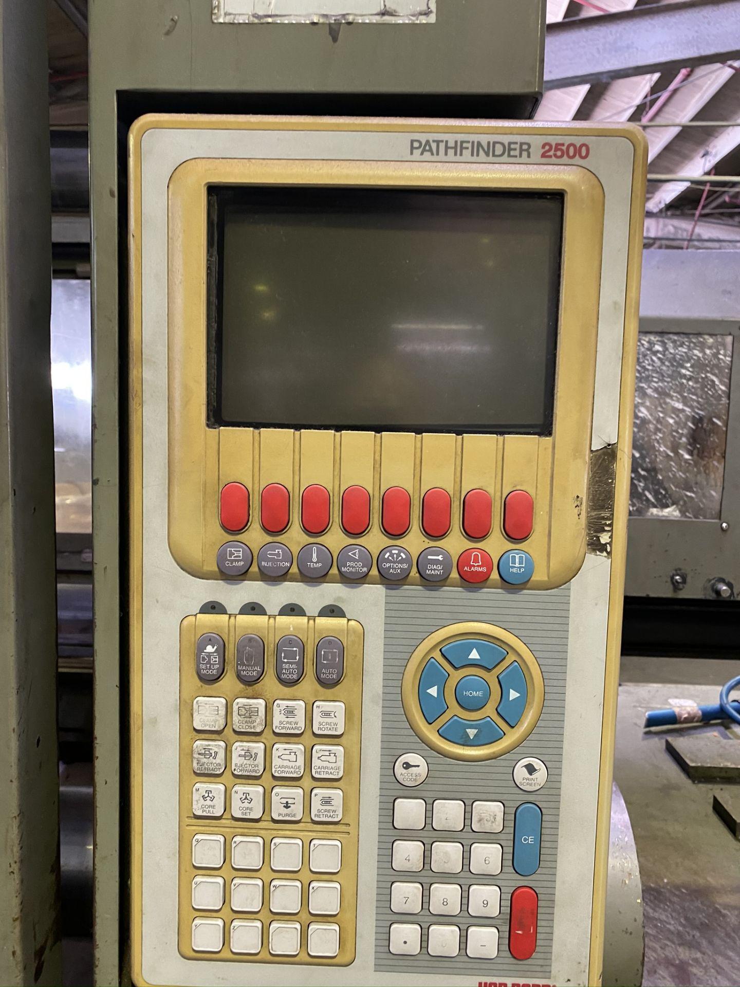 "Lot 6 - 1996 VAN DORN 650 TON, MODEL 650-HT-60 , PATHFINDER 2500 CONTROL, 60 OZ SHOT SIZE, 53"" X 53"" PLATENS"