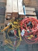 LOT - ASSORTED HAND HELD LIGHTS AND EXTENSION CORDS
