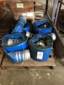 "LOT - (4) 6"" COLLAPSIBLE WATER HOSES"